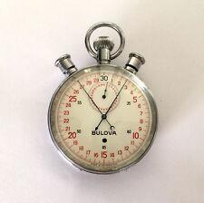 Vintage Rare Bulova 19EA Stopwatch 1147 Sportstimer Timer 21j 5 Adjustments