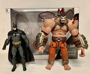 Used Arkham Asylum Batman Vs Bane 2-Pack DC Collectibles Figures Direct City