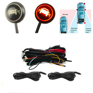 Car Blind Spot Monitoring System Ultrasonic Sensor Distance Assist Lane Changing