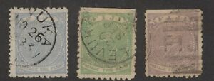 Fiji   used Sc. #40,41,42  wove paper  Nice cancels 1878-90