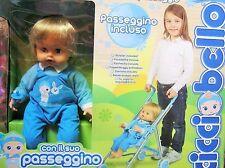 CICCIOBELLO DOLL baby boy LOVE N CARE + personalized 4 wheel stroller buggy pram
