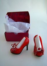 """Red Shoes for Hasbro LORIFINA 20"""" Articulated Fashion Doll Stack Heels Polka Dot"""