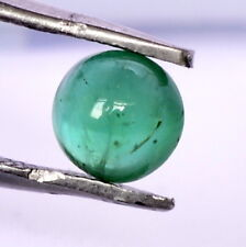 Certified Natural Emerald Round Cabochon 5 mm 0.58 Cts Untreated Loose Gemstone