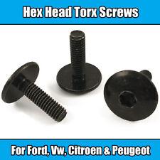 10x M6 x 20mm Torx Screw For Ford Vw Citroen Peugeot Black Metal Hex Head
