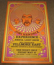 Mint Jimi Hendrix Experience 1968 Poster 4th Print Limited Fillmore Bill Graham