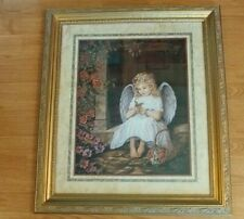 """Home Interiors *Angel / Butterfly* Donna Richardson 29"""" X 25"""" Heavy"""