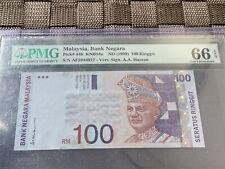 1999 Malaysia 100 Ringgit 1st Prefix - Gem Uncirculated PMG66 EPQ
