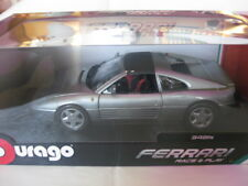 Burago Ferrari 348ts Silber Race & Play #18-16006GY  1:18 Neu in OVP Ungeöffnet