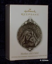 NEW 2012 Hallmark MOTHER and CHILD Metal with Mother of Pearl Accents Ornament