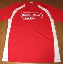 RADIO DISNEY logo AM 910 small T shirt athletic tee fitness polyester Mickey