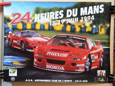Affiche  24 HEURES DU MANS 1994  HONDA     Sport  Car  Course Auto