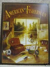 American Fisherman Fishing Decor Tin Metal Sign NEW Cabin