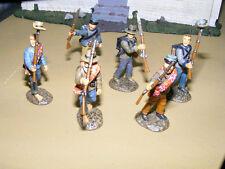 Frontline Figures, 6 marschierende sudistas, Confederate infantry 1/32, aci11