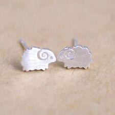 925 sterling silver nice little sheep ram stud earrings girl women