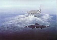 Hawker Siddeley Sea Vixen landing aircraft carrier Fleet Air Arm Royal Navy card