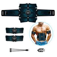 8 Pads ABS Stimulator Abdominal Muscle Trainer Toner Belt EMS Training Gear