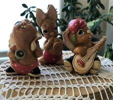 Vintage Pendelfin Rabbit Figurines Phumf, Casanova and Jingle