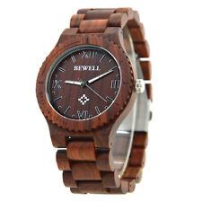 Orologio Bewell in legno di Sandalo naturale - NUOVO con scatola - Wood Watch