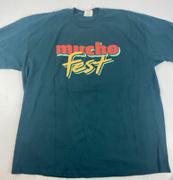 Vintage Mucho Fest Drinking T Shirt Jose Cuervo Malibu Kahlua Green