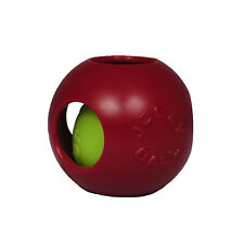 Jolly Pets Teaser Ball 8 inch Red | Hard Plastic plus Squeaker Toy for Dogs
