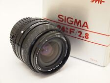 Sigma 24 mm F2.8 Super-Wide II lente Nikon AI-S Monte Con Caja. St Nº u8943