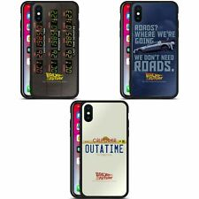 OFFICIAL BACK TO THE FUTURE I GRAPHICS BLACK HYBRID GLASS CASE FOR iPHONE PHONES