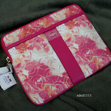 NWT COACH Multi Pink OP SIGNATURE TOUCH PAD IPAD SLEEVE TABLET COVER CASE NEW