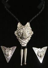 Wolf Bolo Tie & Collar Tips Xmas Gift Set