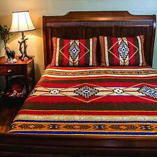 Southwest Aztec Quilt King Size Coverlet Bedding 3 PC Set With 2 Shams