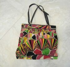 EMILLO PUCCI VINTAGE LARGE VELVIT AND LEATHER PURSE MADE IN ITALY