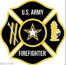 ARMY FIRE FIREFIGHTER MALTESE TOOLBOX CAR HELMET STICKER DECAL MADE IN USA
