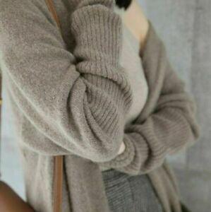 Sweater women's Coat cloak Warm Long knitted Loose Cashmere Cardigan Winter