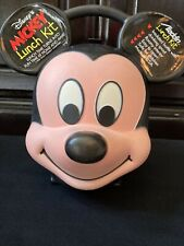 Mickey Mouse Lunch Box Aladdin Unused With Thermos