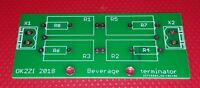 PCB for the beverage antenna terminating resistor(s)