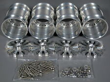 4pcs Aluminum Wheel Rim 12mm Hex Tamiya 1/10 Clodbuster Bullhead TXT Juggernaut