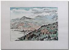 Arno Fleischer - Original Grafik Lithographie JALTA coloriert -06428-