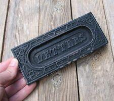 Antico Ghisa Ornato Cassetta Delle Lettere Piastra/Porta Mail Slot/casella di posta