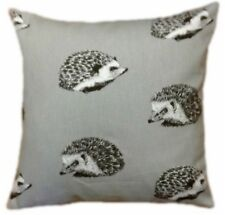"""16"""" CUSHION COVERS- made in HEDGEHOG col. grey animals xmas   + zip"""