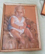 Kinderbild Pastell 1943 monogrammiert?