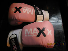 MAXX PRO BOXING GLOVES PINK VGC