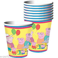 PEPPA PIG 9oz PAPER CUPS (8) ~ Birthday Party Supplies Beverage Drinking Nick Jr