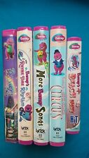 LOT of 5 BARNEY VHS Tapes Clamshell cases Excellent Cond. Lyrick X-NICE X-Clean!
