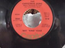 NAT KING COLE MONO CAPITOL RECORDSTHE CHRISTMAS SONG / THE LITTLE BOY THAT FORGO