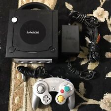 Nintendo Game Cube System Black DOL-101 With Cords And Controller Tested Working
