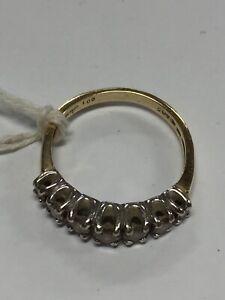 14K Yellow Gold Diamond Band Ring 4.1 Grams Size 9 (GS)