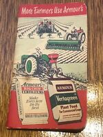 Armour's Big Crop Fertilizer Advertising Notebook 1952-53 farmers office vintage