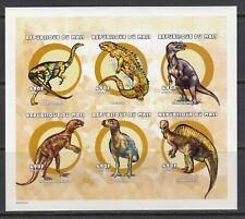 Dinosaurs Dinosaures Dinosauro  Animals 2000 Mali MNH 6 v M/s IMPERF