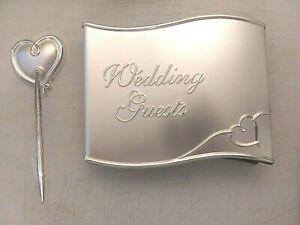 Lenox Guest Book w/ matching Pen & Holder set for Wedding/Shower/Anniversary-NEW