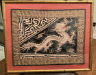 Antique 19Th C. Chinese Silk Rank Badge With DRAGON Design Fantastic Detail