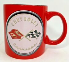 General Motors CHEVROLET CORVETTE GM Vette Tea Coffee Mug Cup Red Black 20 oz